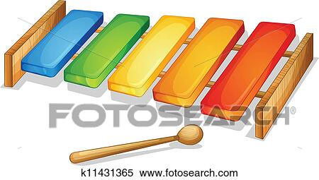 Clipart of xylophone k11431365 - Search Clip Art ...