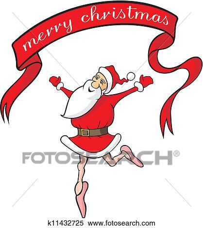 剪贴画 跳舞, 圣诞老人