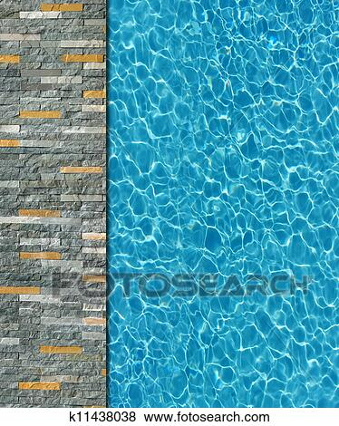 Stock illustration of cool water in swimming pool for Swimming pool drawing