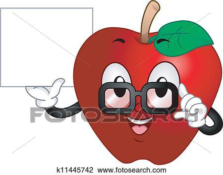 剪贴画 - 苹果, 吉祥人