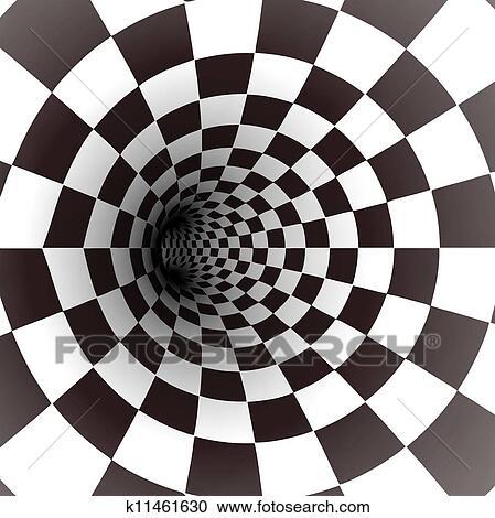 clipart schwarz wei spirale tunnel vektor k11461630. Black Bedroom Furniture Sets. Home Design Ideas