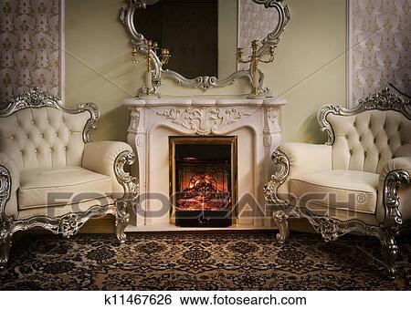 banque d 39 images luxe victorien appel int rieur k11467626 recherchez des photos des. Black Bedroom Furniture Sets. Home Design Ideas
