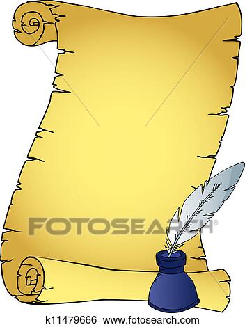 quill and parchment clipart - photo #6