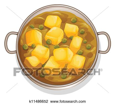 Clipart of indian food k11486652 search clip art for Art of indian cuisine