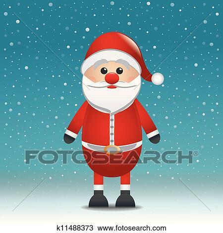 剪贴画 圣诞老人帽子, 蓝色雪, 背景