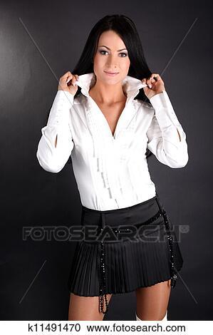 Белая Рубашка И Черная Юбка Доставка