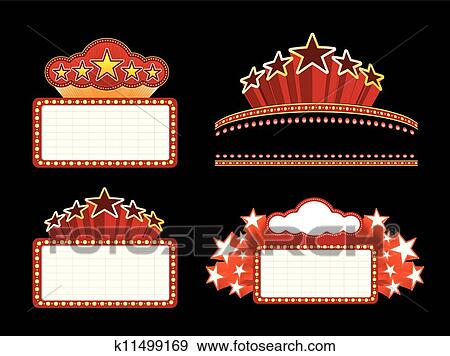 Theater marquee Clipart Royalty Free. 1,005 theater marquee clip ...