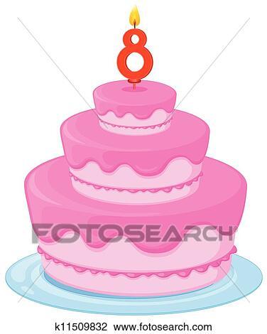 剪贴画 a, 生日蛋糕