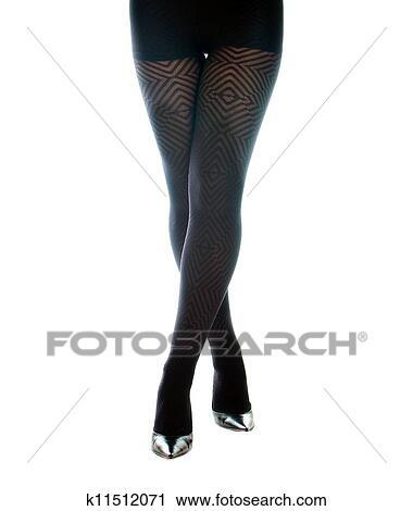 Banques de photographies sexy femme jambes dans noir for Collant mural francais