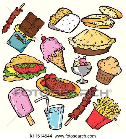 Clip Art Junk Food Clipart junk food clipart eps images 10243 clip art vector doodle