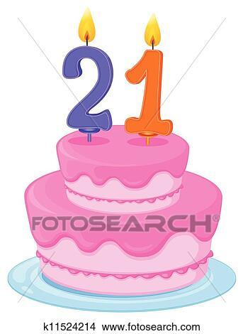 цифра 21 на торте фото