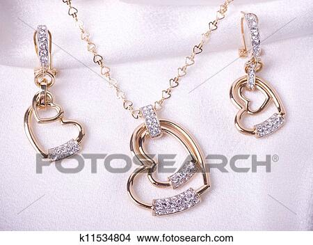 Stock photo of beautiful jewelry on background k11534804 for Mural jewellery