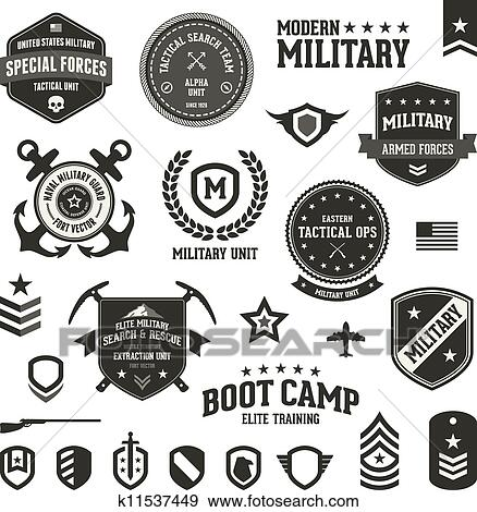 Clipart of american army enlisted rank insignia icons k2179300 ...