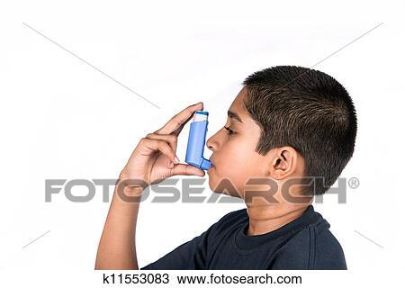 Symptômes d'asthme Caractère de dessin animé - …