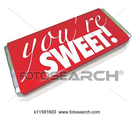 Red Candy Bar Wrapper