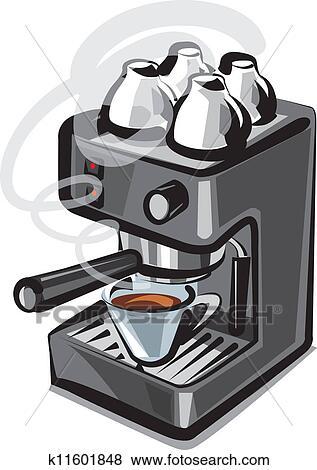 coffee machine clipart