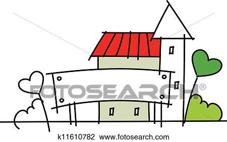 剪贴画 图标, 房子
