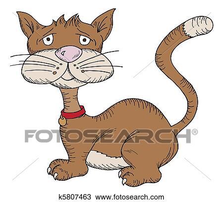 手绘图 - 卡通漫画, 猫图片