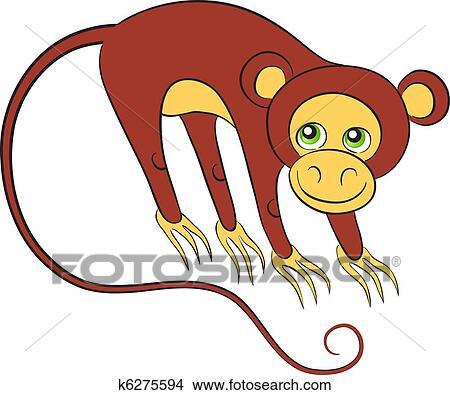 Little Monkey Murals Clipart Little Monkey