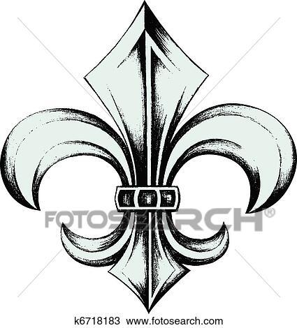 Clipart of fleur de lis symbol k5625055 - Search Clip Art ...