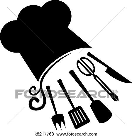 Clip Art of Cooks in the kitchen k3362196 - Search Clipart ...