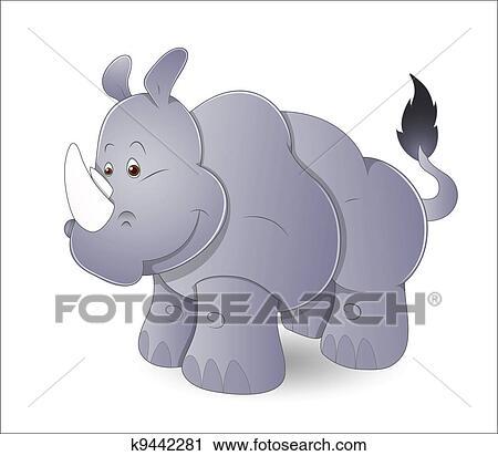 Clipart carino cartone animato rinoceronte k9442281 - Cartone animato immagini immagini fantasma immagini ...