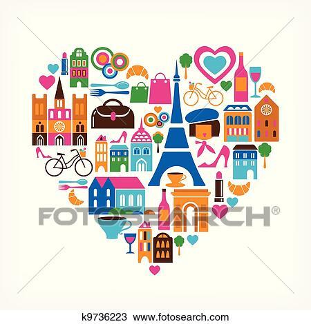 Dessin - pairs, amour, -, vecteur, illustration, à, ensemble, de, icônes. Fotosearch - Recherchez des Cliparts, des Illustrations et des Images Vectorisées au Format EPS