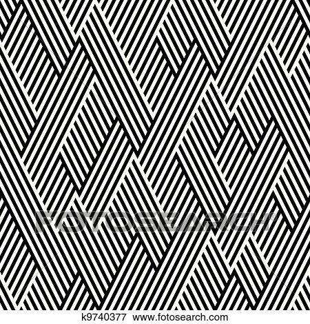clip art muster in zickzack mit linie schwarz wei k9740377 suche clipart poster. Black Bedroom Furniture Sets. Home Design Ideas