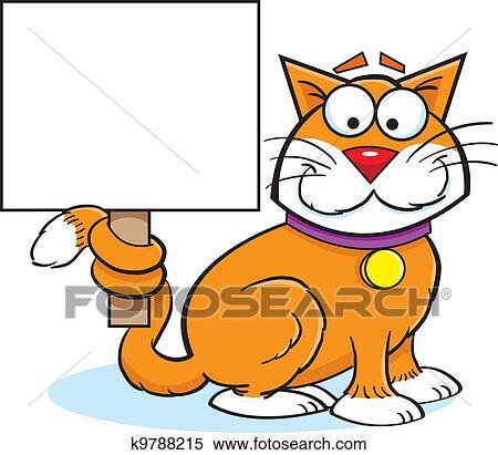 Clipart gatto con uno segno k9788215 cerca clipart for Gatto clipart