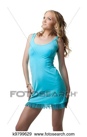 Бело Голубое Платье Доставка