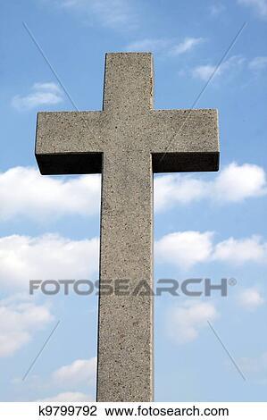 Banque de Photo - pierre tombale, croix. Fotosearch - Recherchez des Images, des Photographies et des Images Clip Art