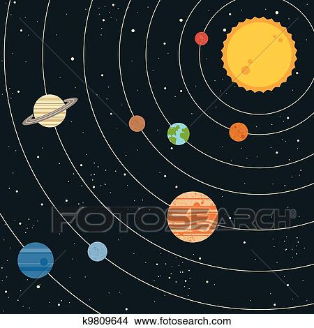 drawing of planets in solar system - photo #10
