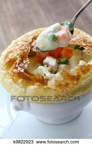 Stock Photo Of Chicken Pot Pie K9822923 Search Stock