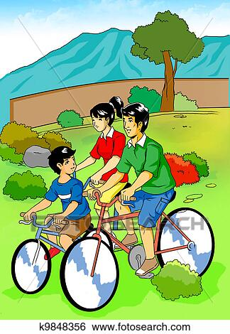 Stock Illustration Of Family Recreation K9848356 Search