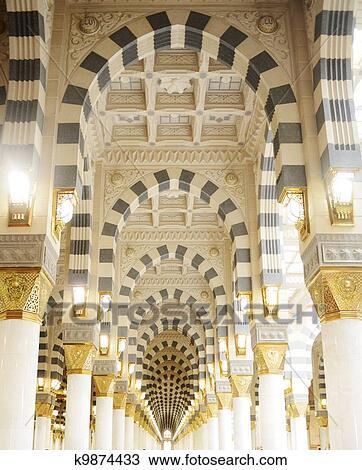 Banque de photo makkah kaaba mosqu e int rieur for Interieur de kaaba