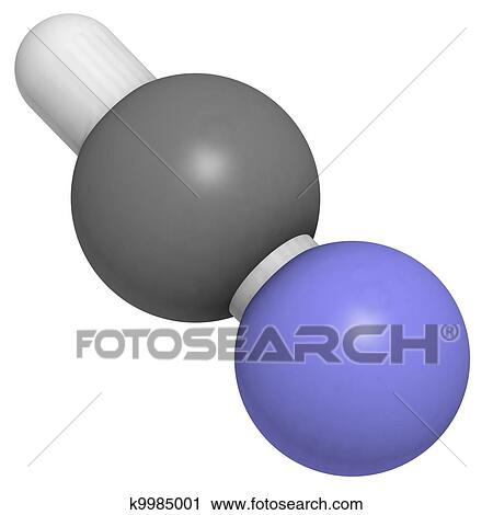 Stock Photography of Hydrogen cyanide (HCN) k9985001 ...