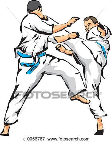 clip art of karate fight unarmed combat k10056767 search clipart rh fotosearch com karaté clipart karate clip art free