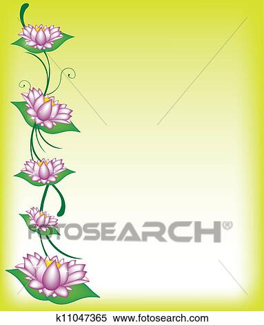 Stock Illustration of Lotus borders k11047365 - Search Clipart ...