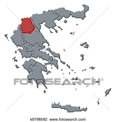 Clip art of map of greece west macedonia highlighted k9798592 clip art map of greece west macedonia highlighted fotosearch search clipart gumiabroncs Image collections