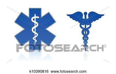Stock Illustration Of Medical Symbols K10390816 Search Clip Art