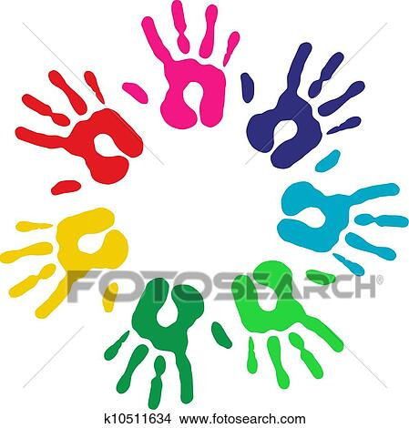 clipart of multicolor diversity hands circle k10511634 search clip rh fotosearch com Culture Diversity Clip Art racial diversity clipart free
