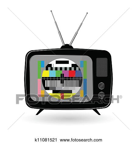 clipart of old tv with tv test vector k11081521 search clip art rh fotosearch com clipart communication clipart tv monitor