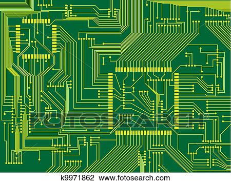 Clipart of printed circuit board k9971862 - Search Clip Art ...
