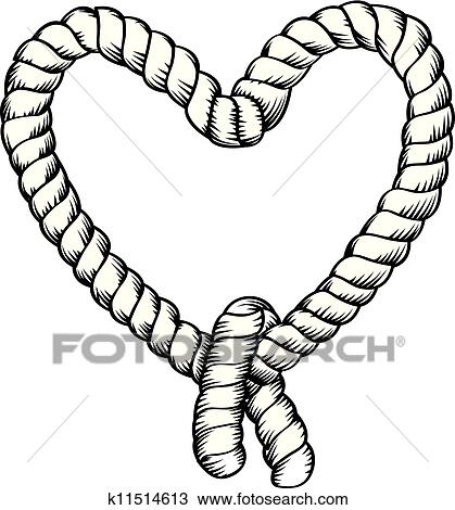 clipart of rope making heart shape k11514613 search clip art rh fotosearch com rope clip art borders rope clipart png