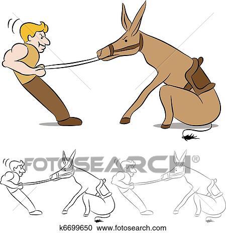 Stubborn mule drawing
