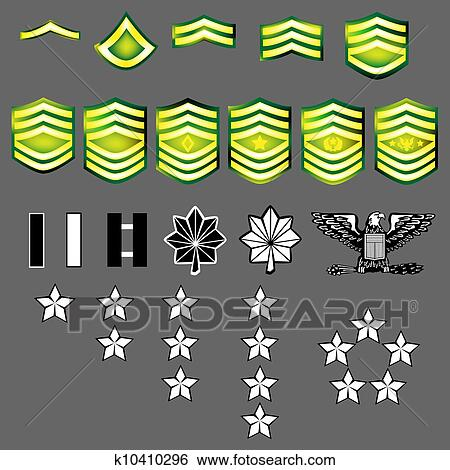 Clip Art of US Army rank insignia k10410296 - Search ...