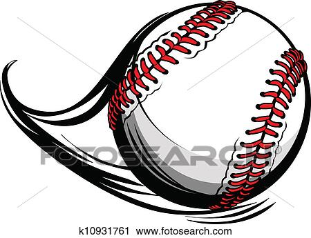 clipart of vector illustration of softball or baseball with movement rh fotosearch com vector baseball balloon baseball ball faces vector clip art