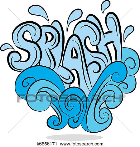 clipart of water splash sound effect text k6656171 search clip art rh fotosearch com splash clipart splash clipart png