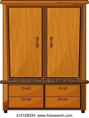 Wardrobe clipart  Clipart of A wardrobe k12128334 - Search Clip Art, Illustration ...