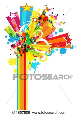 Clip Art Of Abstract Colorful Festival Decoration Background